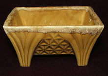 Mid-Century Gold Drip Glaze Footed Planter - CP 1446