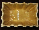 Mid-Century Gold Drip Glaze Scalloped Planter - CP USA