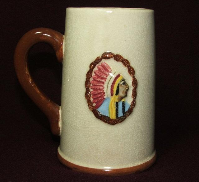 Vintage / Antique Wisconsin Dells Souvenir Pottery Stein / Mug