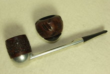 Vintage Falcon Pipe With 2 Briar Bowls