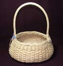 Signed Oval Wicker Kentucky Egg Basket