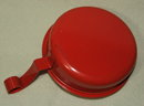 Vintage Orange Tole Painted Metal Silent Butler