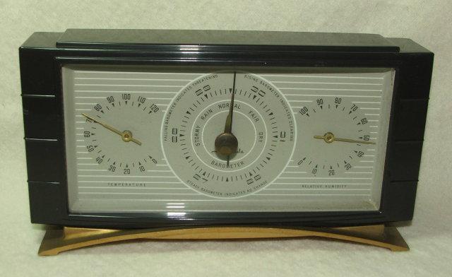 Vintage Art Deco Airguide Barometer Weather Station