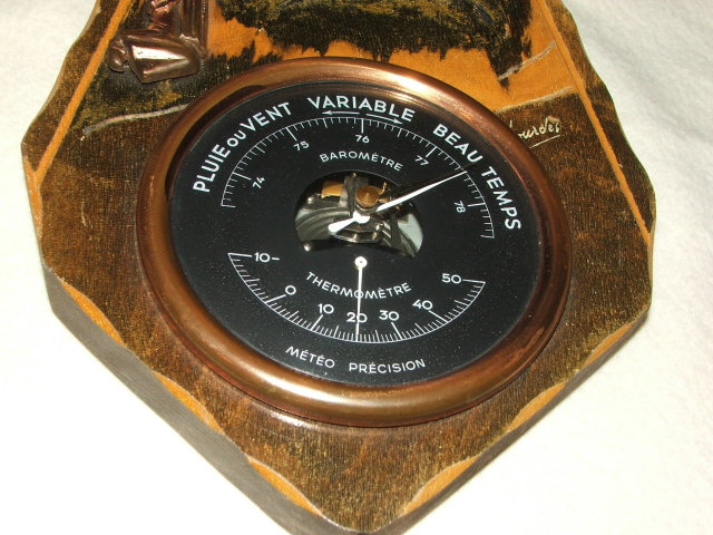 Vintage / Antique French Lourdes Wall Barometer