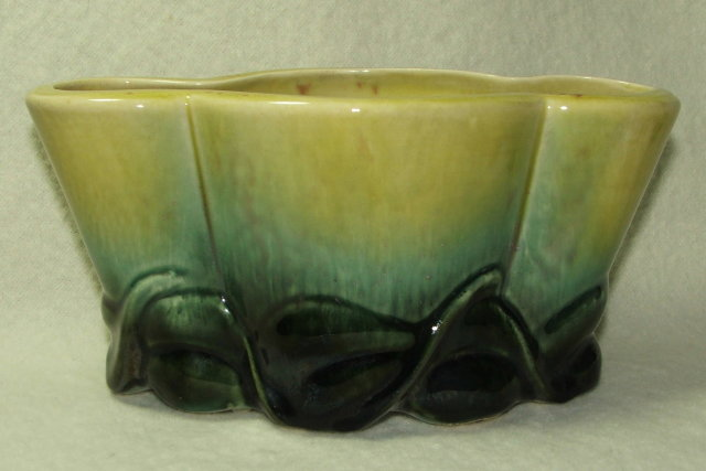 Mid Century Hull Art Pottery Planter in Greens