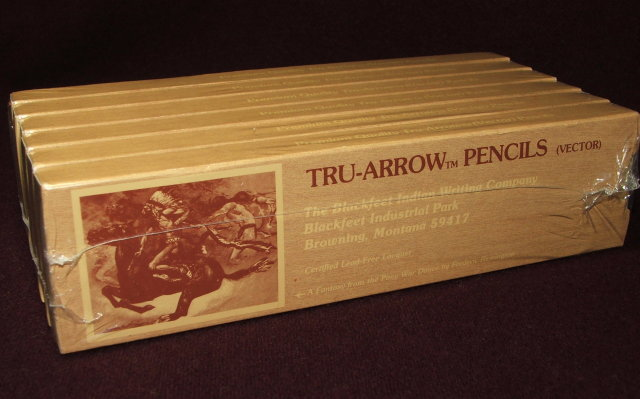 6 Doz. Vintage Blackfeet Indian Tru-Arrow Pencils