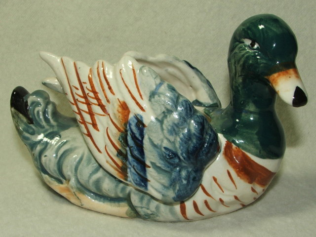 Hand Painted Occupied Japan Wild Duck Planter