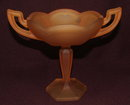 Westmoreland Amber Satin Glass Compote