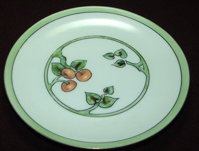 Art Deco Hutschenreuther Cherries Plate, Selb, Bavaria