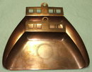 Antique Copper Art Deco Crumb Trays