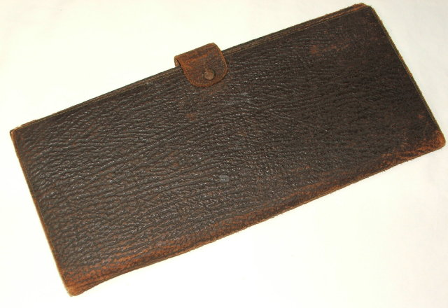 Antique Leather & Silk Travel Case for Ties