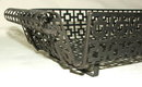 Mid-Century Retro Asian Influence Wrought Iron Basket Tray