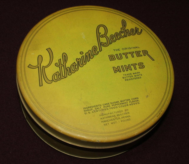 Vintage Katherine Beecher Butter Mints Tin / Vintage Tatting-Crochet Thread