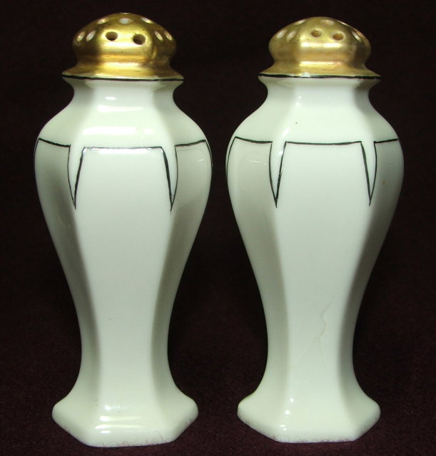 2 Sets 1920's Art Deco Salt & Pepper Shakers