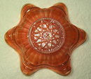 Antique Northwood Marigold Carnival Glass Dish