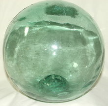 Large Green Glass Russian Fishing Float