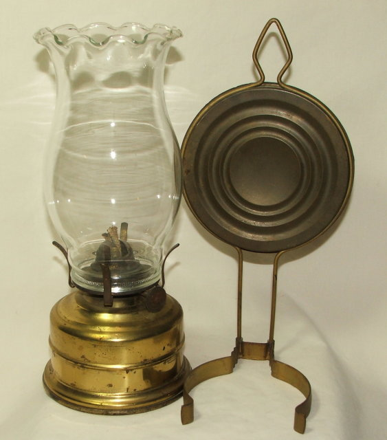 Vintage / Antique German Oil Lamp With Reflector