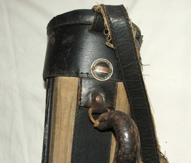 Shabby Vintage Vinyl Coated Fabric Par-Bag Golf Bag