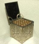 Vintage Embossed Metal PopUp Cigarette Box