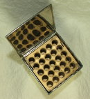 Vintage Embossed Metal PopUp Cigarette Box