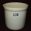 Vintage / Antique Ruckels Stoneware Crock - White Hall, IL