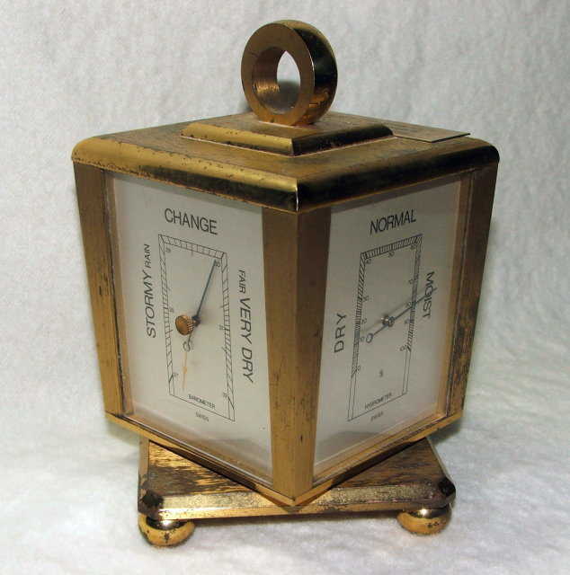Vintage Swiss Hamilton Desk Clock / Weather Station