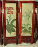 Vintage Miniature 6.75 Inch Japanese Folding Screen