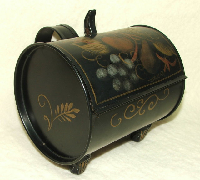 Vintage Tole Painted Silent Butler / Decorative Box