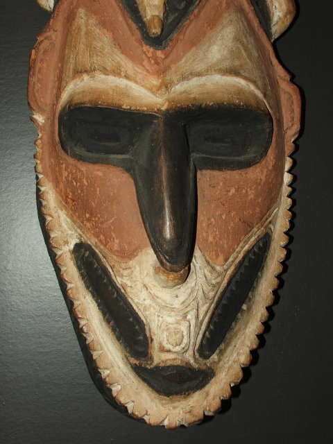 Vintage / Antique New Guinea Crocodile Mask
