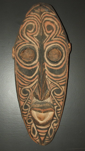 Vintage / Antique New Guinea Carved Gable Mask