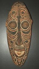 Vintage / Antique New Guinea Carved Gable Mask
