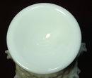 Vintage Fenton Milk Glass Hobnail Pedestal Bowl