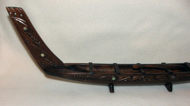 Carved 21 Inch Model of Northwest Indian Canoe