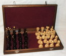 Russian Hand-Carved Wooden Chess Set