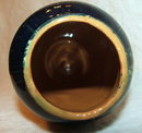 Mid-Century Burnt Orange & Blue/Green Drip Glaze Pottery Vase