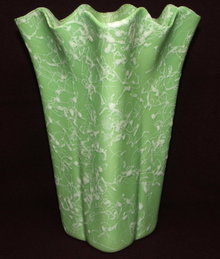 Fifties Shawnee Green Cameo Ware Sorcery Vase