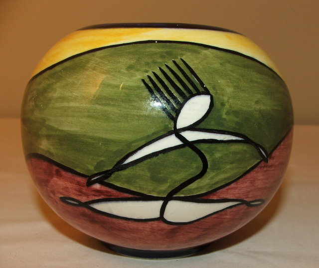 Mid-Century Dutch Modernist Art Pottery Vase
