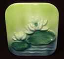 Royal Copley Square Lily Pad Art Pottery Vase