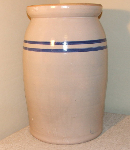 Vintage Marshall Pottery 5 Gallon Butter Churn