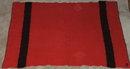 Vintage Canadian Red & Black Wool Blanket