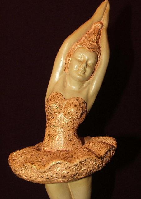 Vintage Mid-Century Devonware Chalkware Ballet Dancers