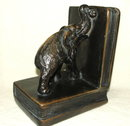 Vintage / Antique Chalkware Elephant Bookends