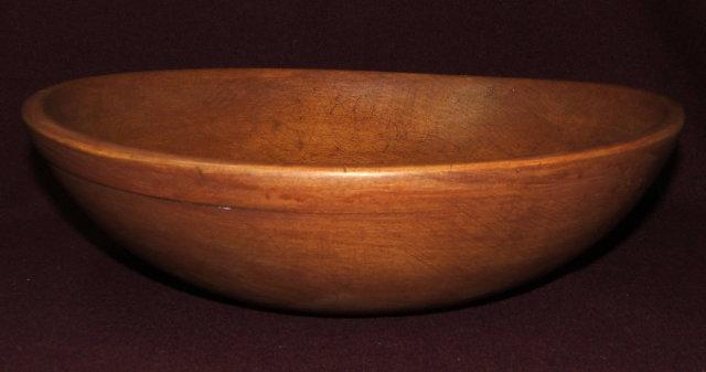 Large Early Munising Wooden Sugar Maple  Dough Bowl