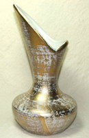 Mid-Century Royal Haeger Gold Washed Vase # 413