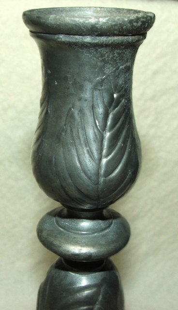 Kayserzinn German Pewter Art Nouveau Floral Candlestick / Candle Holder