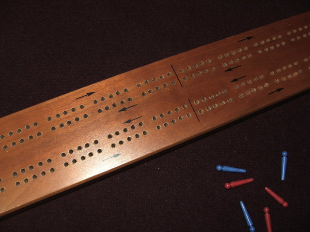 Vintage Drueke Long Tournament Cribbage Board No. 15-2