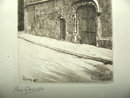 Signed Lucy Garnot Etching