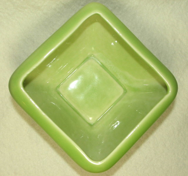 Mid-Century Modern Lime Green Hyalyn Pottery Planter