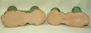 Pair of Frankoma Ada Clay Double Candle Holders