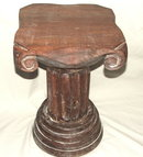 Antique Porch Pillar Pedestal Table